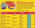 Scholastic Hooked on a Book sign up sheet