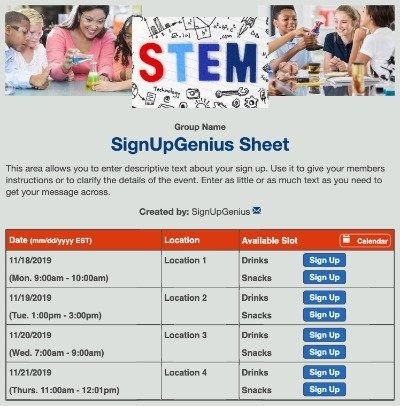 stem children sciences math education schools fairs experiments grey gray sign up form