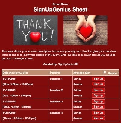 thanks loves hearts gratitude appreciation teacher red sign up form