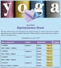 Yoga 3 sign up sheet
