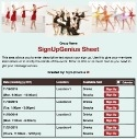 Dance Class sign up sheet