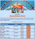 Spring Carnival sign up sheet