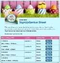 Easter 3 sign up sheet