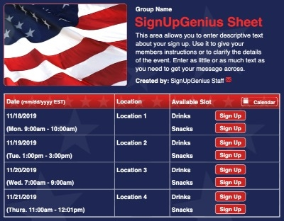 america patriotic elections campaigns 4th July veterans votes fourth independence days usa stars stripes  sign up form