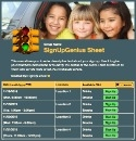 Kid Carpool sign up sheet