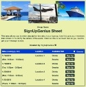 Travel Agent sign up sheet