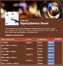 Photography Booking sign up sheet