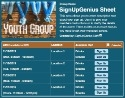 Youth Group sign up sheet