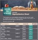 Back to School Time 5 sign up sheet