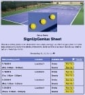 Pickleball Practice sign up sheet