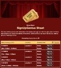 Theater Tickets sign up sheet