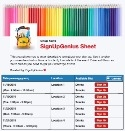 Back to School Supplies sign up sheet