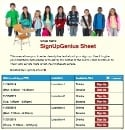 School Children sign up sheet