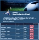 Soccer Action sign up sheet