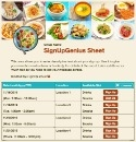 Meal Sign Up sign up sheet