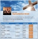 Crosses sign up sheet