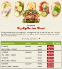 Sandwich sign up sheet