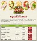 Sandwich sign up sheet