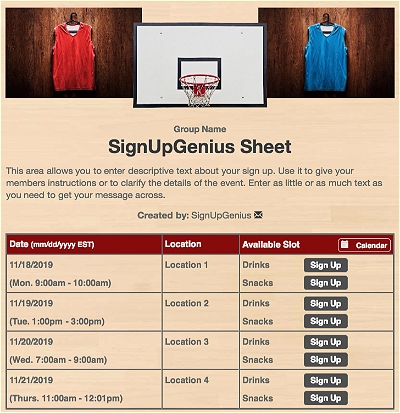 basketball tournaments sports games teams league tan sign up form