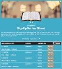 Bible Reading sign up sheet