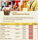 Art and Paint sign up sheet