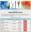 Art Palette sign up sheet