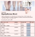 Ballet Performance sign up sheet
