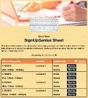 Technology Training sign up sheet