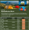 Camping Tent sign up sheet