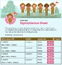 Girl Scout Fun sign up sheet