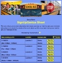 School Bus Ride sign up sheet