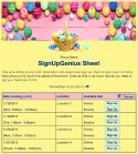 Easter Basket sign up sheet