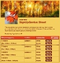 Autumn Foliage sign up sheet