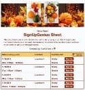 Fall Decorations sign up sheet