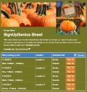 Picking Pumpkins sign up sheet