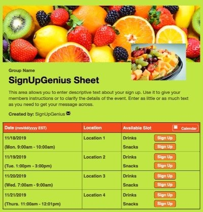 foods fruits healthy breakfast side dish green sign up form