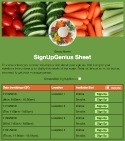 Veggie Tray sign up sheet