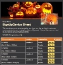 Jack O'Lantern Carving sign up sheet