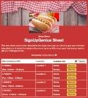 Hot Dog Cookout sign up sheet