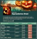 Spooky Jack O'Lantern sign up sheet