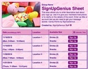 Candy sign up sheet
