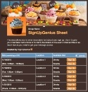 Halloween Cupcakes sign up sheet