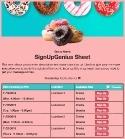 Donut Treats sign up sheet