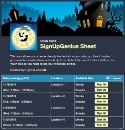 Halloween Haunted House sign up sheet