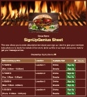 Cookout Barbeque sign up sheet