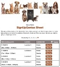 Animal Rescue Help sign up sheet