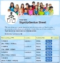 Kids Ministry sign up sheet