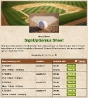 Baseball Diamond sign up sheet