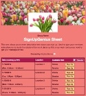 Spring Flower Bouquet sign up sheet