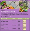 Garden Flowers sign up sheet